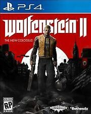Wolfenstein II: The New Colossus (Sony PlayStation 4, 2017) Excellent & Complete