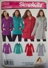 Winter jacket coat  pattern 0928 unused size 14 16 18 20 22