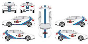 Kit Alfa 147 - Stickers le Mans Deco Racing Stripe Gulf