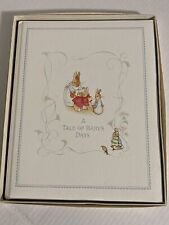 "Vintage 1976 Peter Rabbit ""A Tale of Baby's Days"" Baby Book Beatrix Potter box"