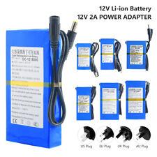 DC 12V Lithium Polymer Akku Wiederaufladbarem Schalter 4800-20000mAh + Ladegerät