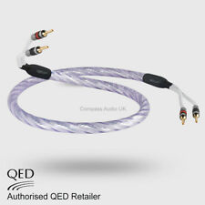 1 x 2.5m QED GENESIS Silver Spiral Speaker Cable AIRLOC Forte Plugs Terminated