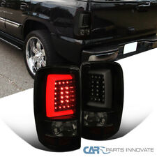 Fit 00-06 Suburban Tahoe Yukon XL Glossy Black LED Light Bar Smoke Tail Lights