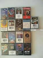Judas Priest Cassette Tapes 1970's-1990's Hard Rock Metal SPECIAL lot of 18