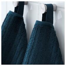 2 x IKEA VÅGSJÖN (Vagsjon) Dark Blue 100% Cotton Hand Towels (50x100cm)