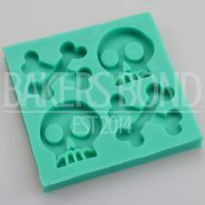 Pirate Skull and Crossbone Silicone Mould Nautical Themed Cake Fondant Topper