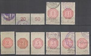 Germany Braunschweig revenues 1907 Stempelmarken fiscal