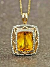 Round Yellow Gold Fine Diamond Necklaces & Pendants