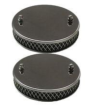 "New Pair of Chrome Pancake Sports Air Filters for 1 1/2"" SU MGA MGB 1955-1974"