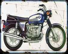 Bmw R75 5 A4 Metal Sign Motorbike Vintage Aged