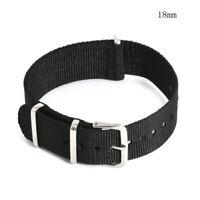 18-22mm Infantry Military Army Fabric Buckle Nylon Wrist Watch Band Strap Retro