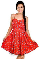 NEW Too Fast Banjo & Cake Carol Ann Nautical Stars Swallows Dress Red S Small