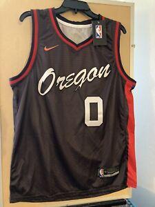 Portland Trail Blazers Damian Lillard #0 2021 Stitched Jersey City Edition Sz 52