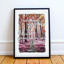 Keane Somewhere Only We Know Lyrics Art Print on Satin Photo Paper - Choose size