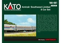 Kato 106-081 N Scale Amtrak Southwest Limited 8-Car Set w/ Display Unitrack