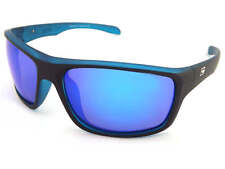 Dirty Dog Polarised Axle Sunglasses Satin Black Xtal Blue / Blue Mirror 53353