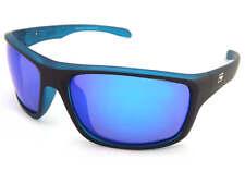 Dirty Dog Polarizado Axle Gafas de Sol Negro Satinado Xtal Azul/Espejo Azul