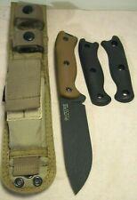 2000s~KABAR~BK&T~BK16 BUSHCRAFT SPORTSMANS KNIFE w/ORIG. SHEATH & 2 HANDLE GRIPS