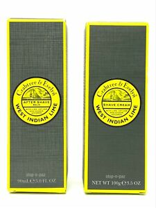 Crabtree & Evelyn West Indian Lime Shave Cream + Key & After Shave Balm - NIB