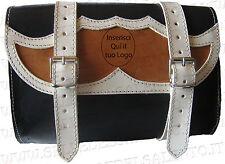 Borsa moto rettangolare pelle personalizzata custom Bobber softail guzzi honda