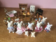 Sylvanian families Furniture Bundle With Rabbit Family