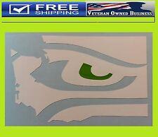 SEAHAWKS EYES WASHINGTON MAP 12TH MAN DECAL STICKER VINYL I'm In Seattle Sherman