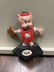 "Vintage 1991 Applause Porky Pig Houston Astros Baseball collectible, 2.50"" tall"