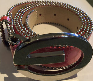 Guess Pink  Genuine Leather Belt