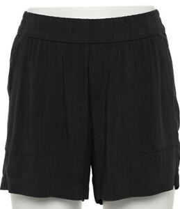 "Women's SONOMA ""Goods For Life"" Black Easy Pull-On Shorts Size Medium (8-10) NWT"