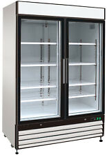 Chef's Exclusive Commercial 2 Glass Swing Door Merchandiser Refrigerator Cooler