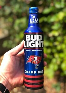 Tampa Bay Buccaneers SUPER BOWL CHAMPIONS Bud Light Beer Bottle - Pre-sale!