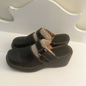 Black Born Clogs Mules Size 10 Mary Janes