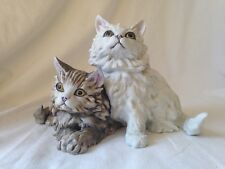 KAISER Porcelain Bisque HP Figurine PAIR OF CATS #490 Artist GAWANTKA