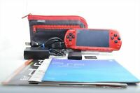 Very good SONY PSP-3000 PSP 3000 Red Black Expedited Shipping  DHL 6718