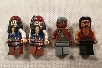 Lego Pirates of Caribbean Minifigures Jack Sparrow Yeoman Zombie Gunner Zombie