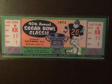 Notre Dame Fighting Irish 1973 Sugar Bowl laminated ticket vs Alabama