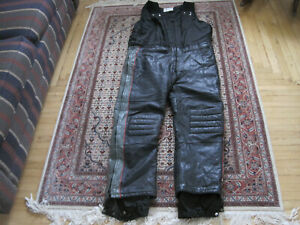 Men's POLARIS Leather Snowmobile Insulated Overalls Bibs Size XXL