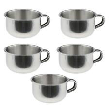 Men Beard Shaving Bowls Mug Cups with Handle Stainless Steel PACK OF 5PCS