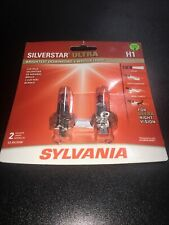 Sylvania SilverStar Ultra H1 Dual Pack Bulbs/ Brand New And Sealed Free Shipping