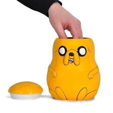 Hora De Aventura Jake El Perro Cerámica 3D Cookie Jar Novedad Dibujos Animados Lata De Galletas