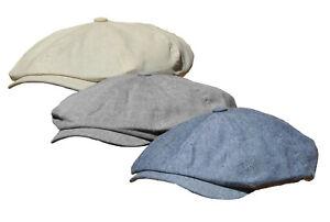 Mütze Leinenmütze Cap Flatcap Sommermütze Schiebermütze Schirmmütze unisex SC03