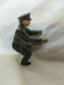 ANTIQUE CAST IRON HUBLEY MOTOCYCLE RIDER,MAN,TOY,POLICE OFFICER,COP,FIGURINE,MEN