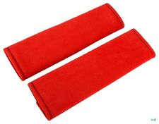 Seat belt cover  solid red ,velvet material ,nice , soft , comfortable