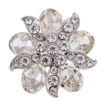 Charms Rhinestone Crystal Buttons Sewing Beautiful Flower Shank Buttons 25mm