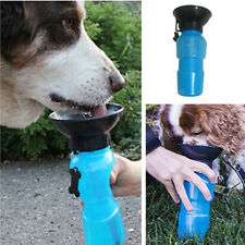 Plastic Travel Picnic Pet Dog Cat Water Drink Feed Bottle Bowl Pet Care Hot