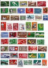 SUISSE timbres collés sur feuille  Usages courants, sujets divers    SP37
