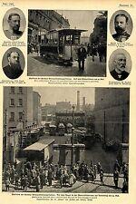 Ausstand der Berliner Strassenbahn * Depot Manteuffelstr. *  Bilddokument 1900