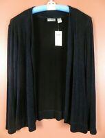 STK3355- NWT CHICO'S TRAVELERS Women's Slinky Knit Open Front Jacket 2 M L $88