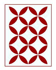 Gitter Muster-Schablone Retro Nr.2 ●  für Hintergründe auf Wand/Möbel/Textilien