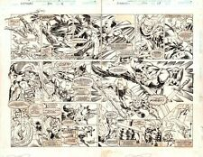 Avengers #394 pgs16&17 DPS - Vision and Giant-Man - 1996 art by Mike Deodato Jr. Comic Art